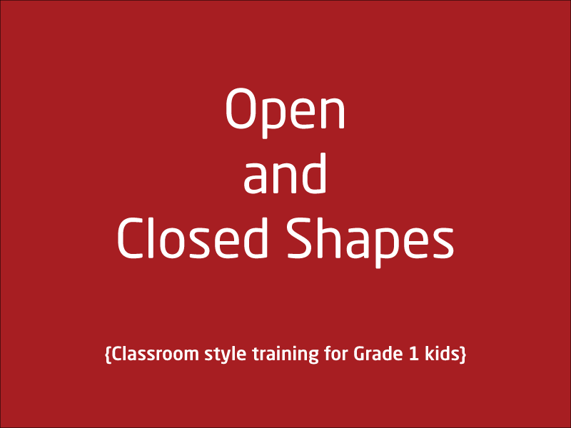 SubjectCoach | Open and Closed Shapes