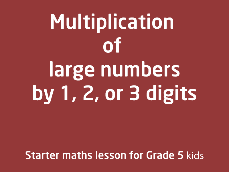 SubjectCoach | Multiplication of large numbers