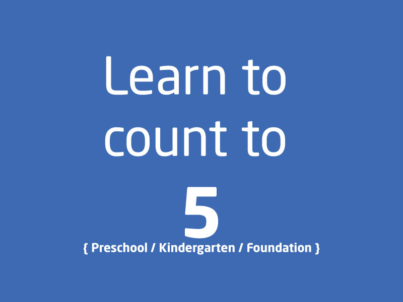 SubjectCoach | PreSchool Kindergarten Foundation Learn to count to 5