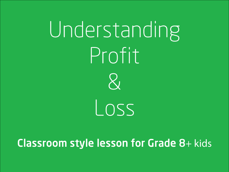 SubjectCoach | Understanding profit and loss