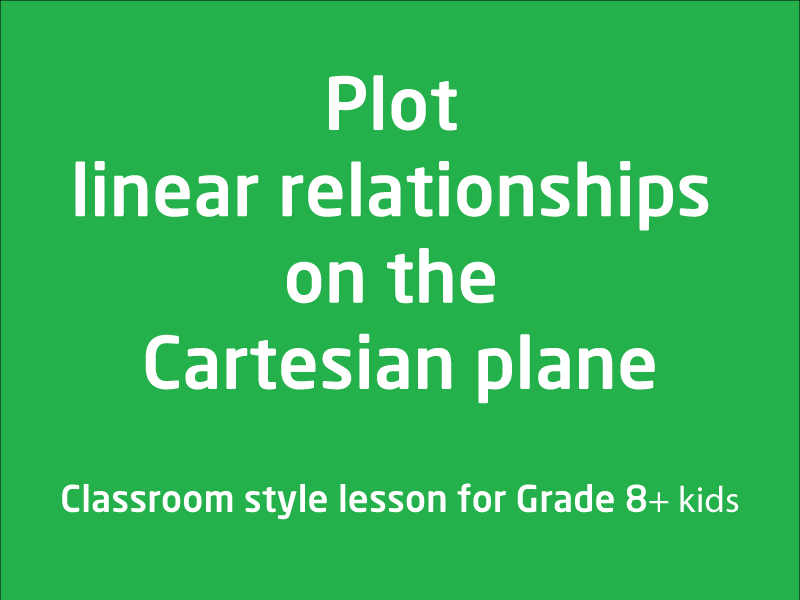 SubjectCoach | Plot linear relationships on the Cartesian plane