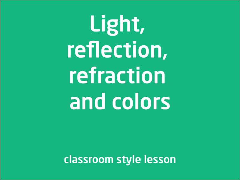 SubjectCoach | Light, reflection, refraction and colors