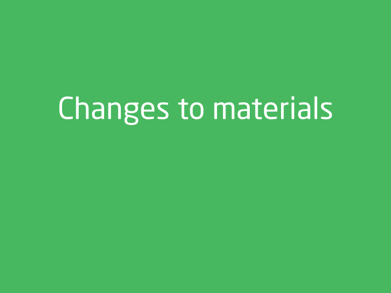 SubjectCoach | Changes to materials
